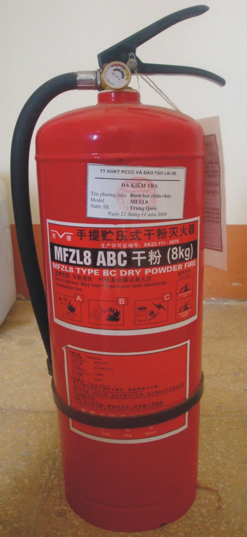 Bình chữa cháy MFZL8 (Bột ABC)