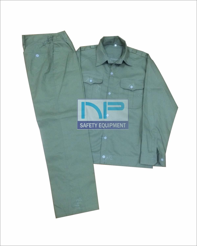 Bộ quần áo ghi ánh xanh may sẵn