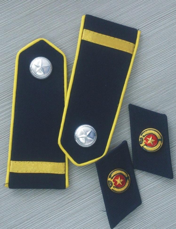 Bộ quân hàm, cầu vai bảo vệ