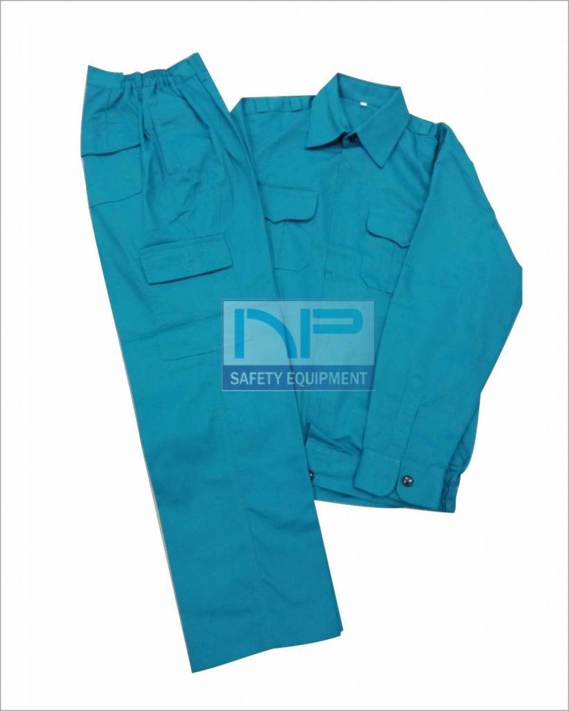Quần áo kaki ND túi hộp màu xanh ngọc(may sẵn)