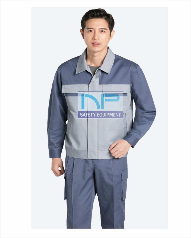 Quần áo Pangzim-HQ vải dày phối màu ghi-xám