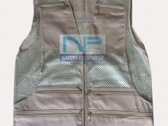 Áo gile kỹ thuật màu ghi (đặt may)