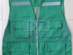 Áo gile kỹ thuật màu xanh coban