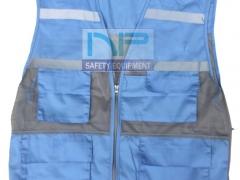 Áo gile kỹ thuật màu xanh hòa bình (vải Pangrim-HQ)