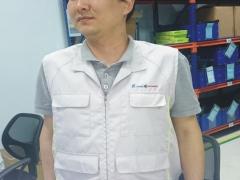 Áo gile kỹ thuật vải màu ghi