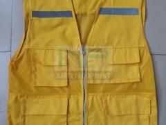 Áo gile kỹ thuật màu vàng