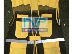 Áo gile kỹ thuật màu vàng (đặt may)