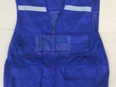 Áo gile kỹ thuật màu xanh công nhân