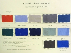 Bảng mã màu vải kaki Nam Định