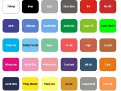 Bảng mã vải áo thun (phông)loại cotton co giãn 4 chiều