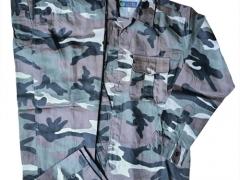 Bộ quần áo rằn ri nâu- vải kaki Nam Định