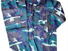 Bộ quần áo rằn ri xanh nhạt- vải kaki Nam Định