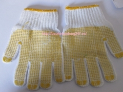Găng tay sợi tráng hạt nhựa