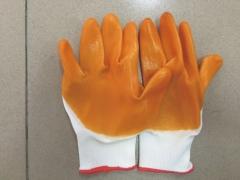 Găng tay sợi tráng sơn vàng