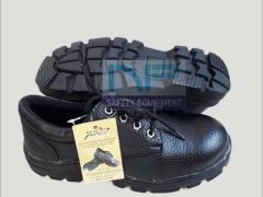 Giày da mũi sắt thấp cổ XP đế xanh