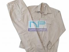 Quần áo bảo hộ kaki ND màu xi măng (may sẵn)