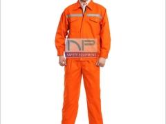 Quần áo kaki ND màu cam kéo khóa