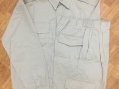 Quần áo Kaki ND túi hộp màu ghi sáng (May sẵn)