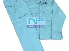 Quần áo kaki ND túi hộp màu xanh nhạt(may sẵn)