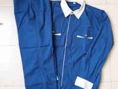 Quần áo phối xanh-ghi vải Pangrim-Hàn Quốc
