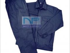 Quần áo thợ hàn vải bạt màu xanh đen