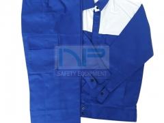 Quần áo vải kaki ND phối màu xanh-ghi