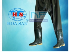 Ủng quần 01 lớp màu xanh bộ đội- Hoa San