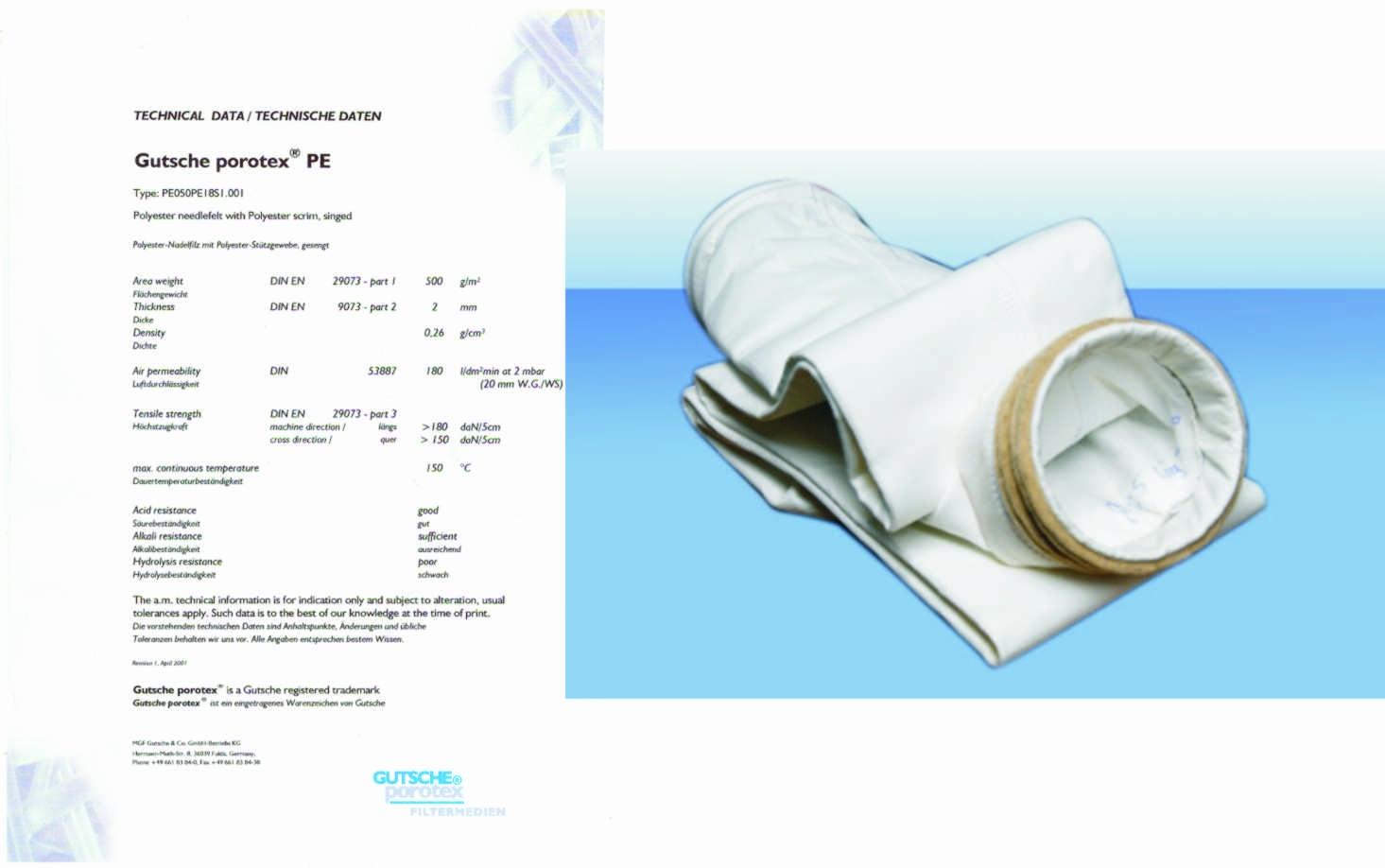 Vải lọc bụi công nghiệp thông thường (PE)